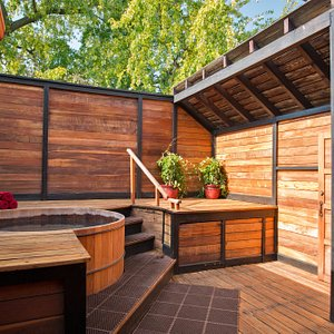 Outdoor tubs are open year round!