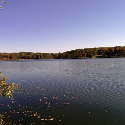 A view of the lake from the northwest corner/camping locations.