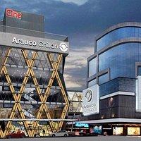 Mall de Chillán, ubicado en el centro de la ciudad a un costado del Mercado y cercanía del paseo