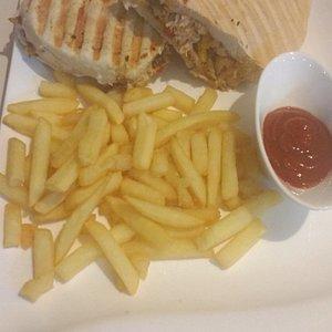 Panini and fries