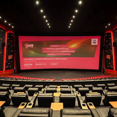 The biggest screen in the Middle East and North Africa. VOX Cinemas on Level 2 of City Centre De
