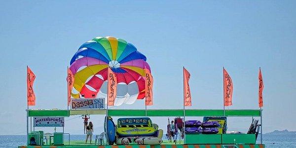Dassia Ski Club Watersports center is located in Dassia beach, Corfu.