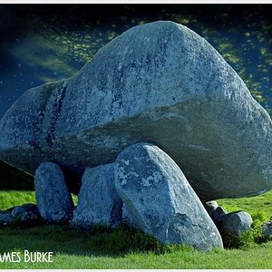Browneshill Dolmen, Carlow. Film image which I have edited for effect.