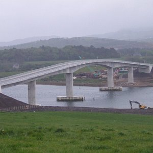The bridge on the first day it opened to the public