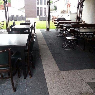 Nice terrace open only when it's warm outside.