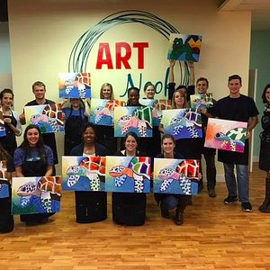 Fun night painting a sea turtle for Canvas & Cork! Great food that was accompanied by great drin