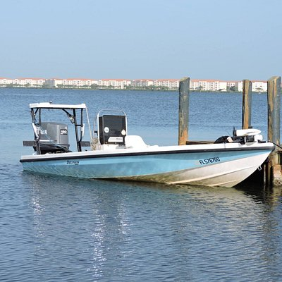 This is the 18' Dolphin Flats Boat that will take us to the fish.
