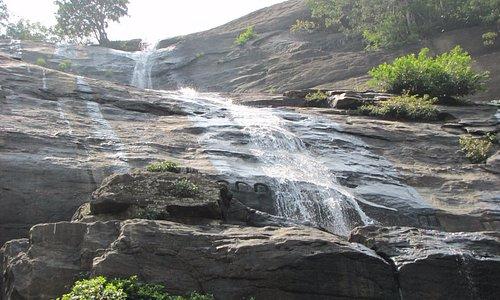 Sculptures in main falls