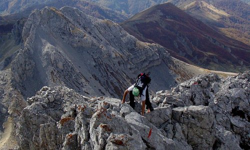 Last meters to the Kucki kom peak (highest one of three)