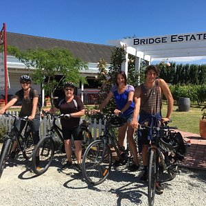 Fab day ! Great service. First stop Millton's for wine tasting, then our team cycled to Bridge E