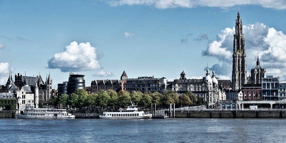 The Antwerp skyline