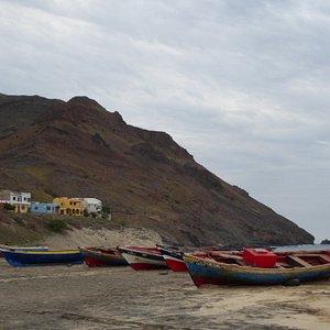fishing boats at Sao Pedro