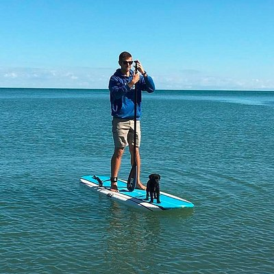 Who said paddleboarding is just for humans!?