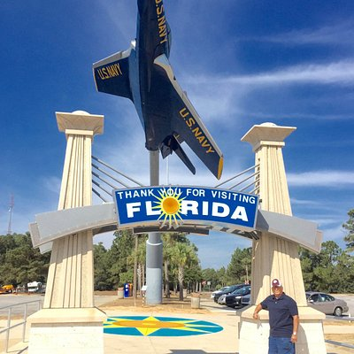 Welcome Arch With Blue Angels Exhibit