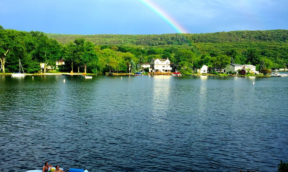 Rainbow over greenwood lake