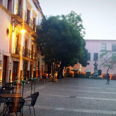 Small plaza near St Agustín church with a few charming patio restaurants.