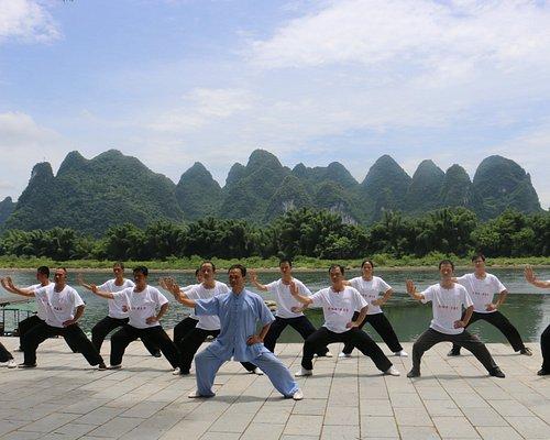 Master Fu teaching by Li River