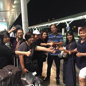 Customer and driver at Tan Son Nhat Airport, Airport Transfer, Airport Pickup, Ho Chi Minh City