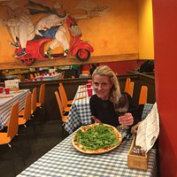 Authentic Italian pizza in Mountain Village, CO. I ordered the Pizza Margherita and added arugul