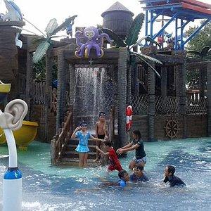 Children play at Waterpark Citraland Denpasar