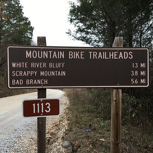 Sign on Hwy 5N and at trailhead.