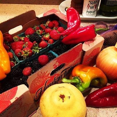 Seattle Capitol Hill Farmer's Market bounty.