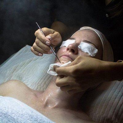 During Facial Treatments