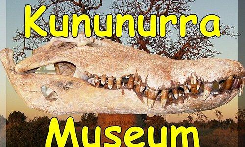 Kununurra Museum - 14 foot Crocodile Skull and the NT-WA Blazed Border Boab