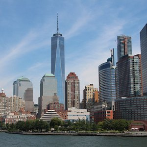 Freedom Tower from Statue of Liberty tour boat
