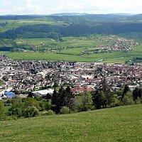 Vue sur Morteau depuis le Mont Vouillot