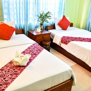 Superior twin room with air-condition at Ta Som Guesthouse & Tour Services