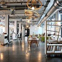 Concordia Taste wnętrze / postindustrial restaurant interior