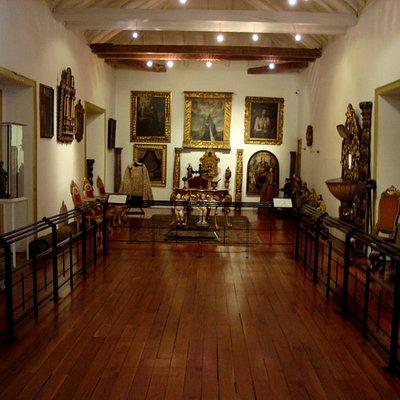 Sala dedicada ao período colonial.