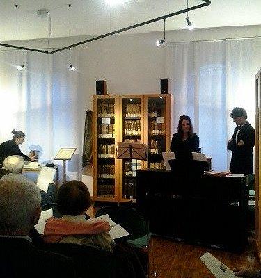 Sala ascolto della Biblioteca Musicale Greggiati