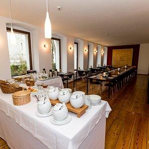 Breakfast Room at the Hotel Johann
