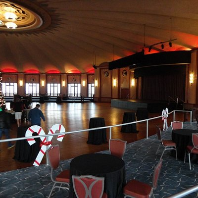 Ballroom - being set up for a function