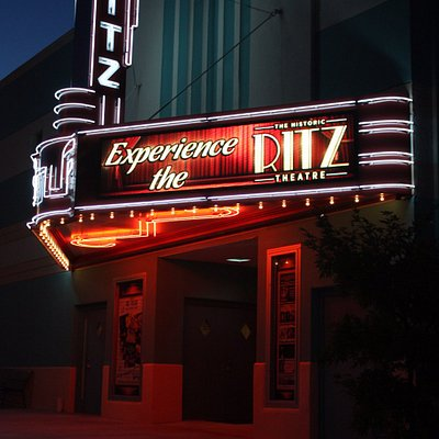 The Ritz Theatre is a restored 1939-era theatre that features movies, plays and live music.