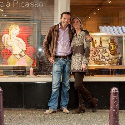 Artist, Erik Renssen & his wife & gallery owner Suzka Renssen