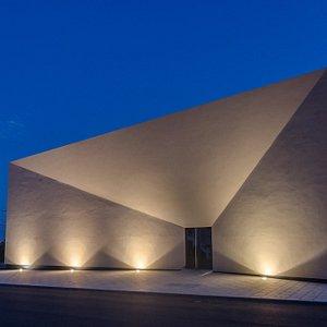 Perspetiva noturna - Fachada Museu da Música Mecânica