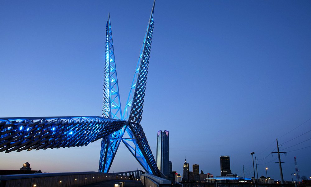 Skydance Bridge in Oklahoma City Photo by: Lori Duckworth