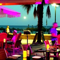Full Moon over the Mediterranean. Great views over the sea from El Gato terrace.