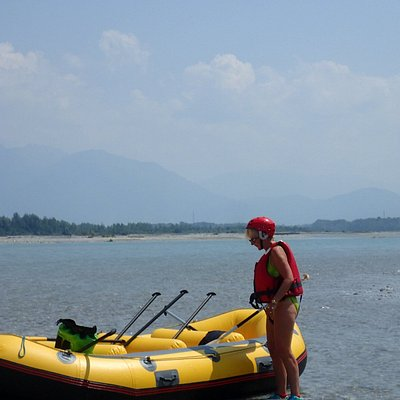 Rafting on the Tagliamente River Italy