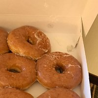Delicious hot, glazed doughnuts!