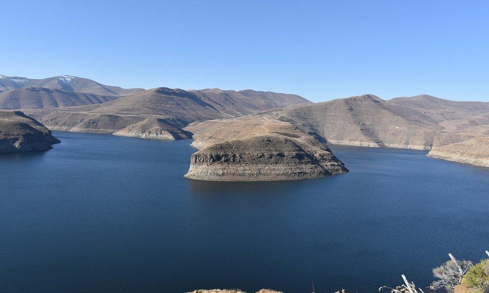 Backwater of Katse dam