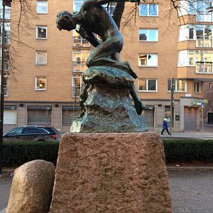 Vesslan skulptur