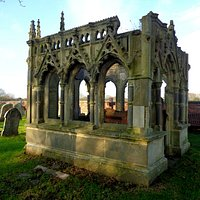 Strange structure in the churchyard.