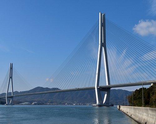 瀬戸内海の多島美と多田羅大橋
