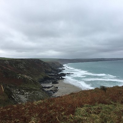 Views back to Port Gaverne and Port Isaac