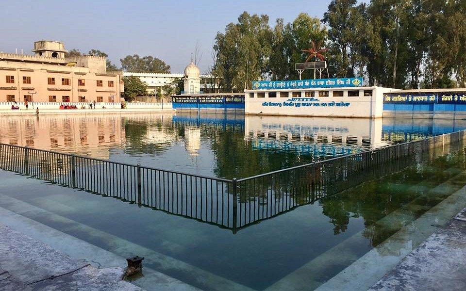 Sarowar inside the Gurudwara complex