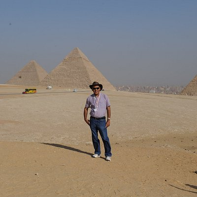 It is me at the look out of Giza pyramids